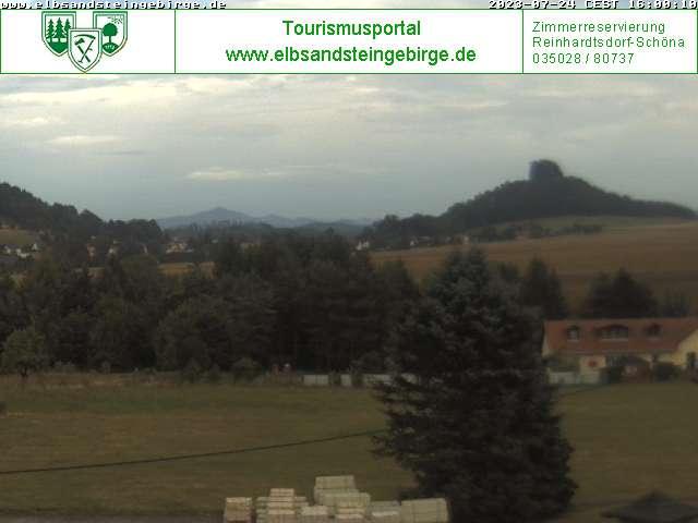 Webcam Zirkelstein in der Sächsischen Schweiz